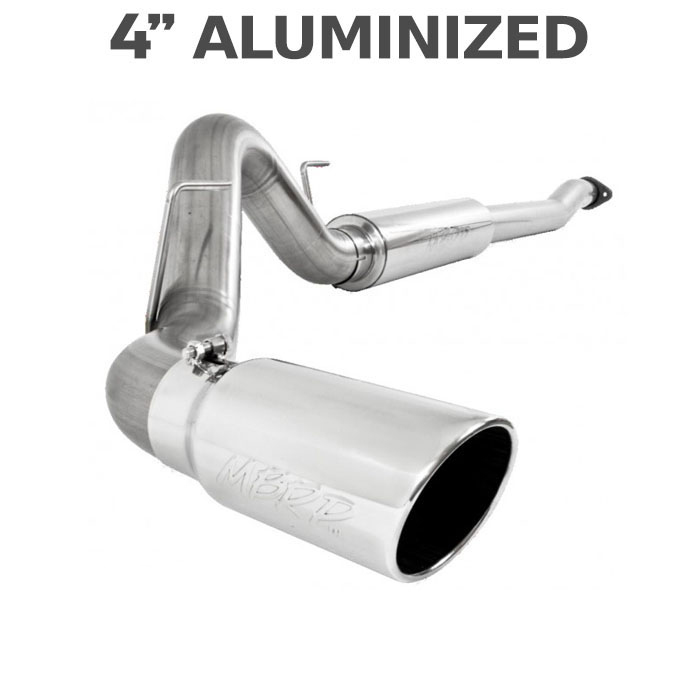 "2011-2014 Ford F150 MBRP EcoBoost 3.5L V6 4"" Single Exit Cat Back Exhaust (Aluminized)"