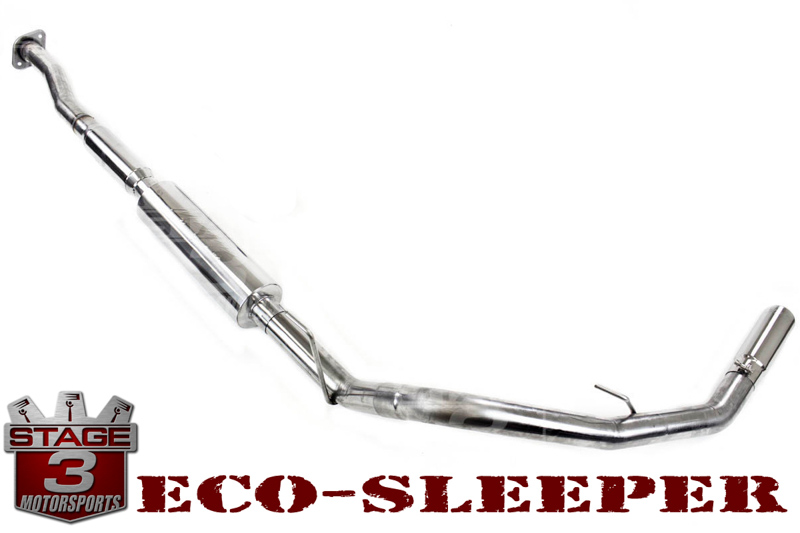 "2011-2014 F150 EcoBoost MBRP Installer-Series Eco-Sleeper 3"" Single-Exit Cat-Back Exhaust System"