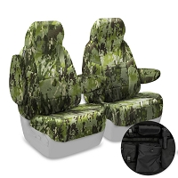 2013-2014 F150 CoverKing Ballistic A-TACS Foliage/Green Camo Front Seat Covers