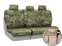 2013-2014 F150 CoverKing Ballistic A-TACS Foliage/Green Camo Rear Seat Covers