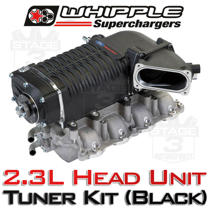 2011-2014 Mustang GT Whipple W140AX 2.3L Supercharger Tuner Kit (Black)