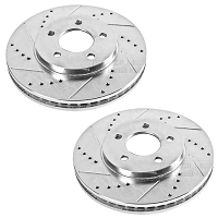 2011-2014 Mustang GT Power Stop Cross-Drilled & Slotted Front Rotor Set