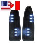 2003-2007 F250/F350 Super Duty Recon Lighting LED Side Mirror Lights (Smoked/White))