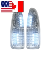 2003-2007 F250/F350 Super Duty Recon Lighting LED Side Mirror Lights (Clear/White)