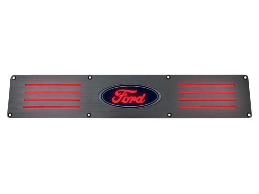 1999 2016 Recon F250 Amp F350 Brushed Rear Door Sill Red Led