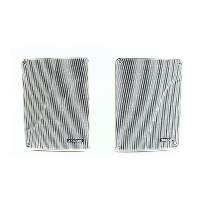 KICKER Full Range Indoor Outdoor Speakers White 11KB6000W