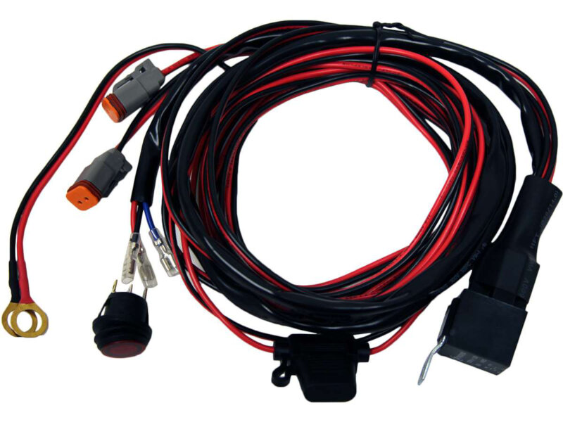 rigid industries d2 series wiring harness for d2 pairs 40196 Wiring Harness Diagram wiring harness show