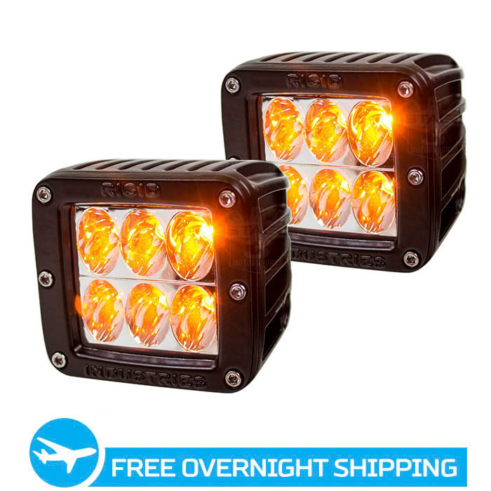Rigid Industries D2 LED Light - Amber - Driving - Pair
