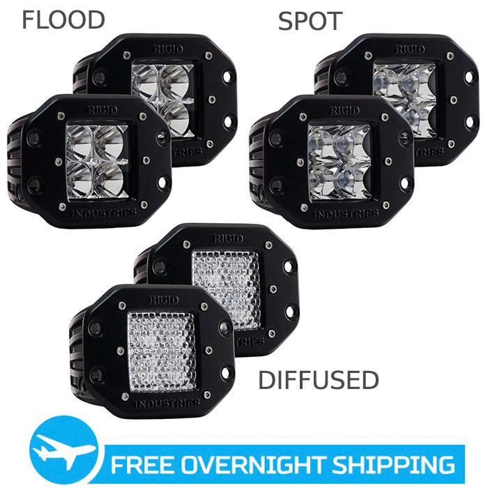 rigid industries dually led flush mount lights 21121. Black Bedroom Furniture Sets. Home Design Ideas
