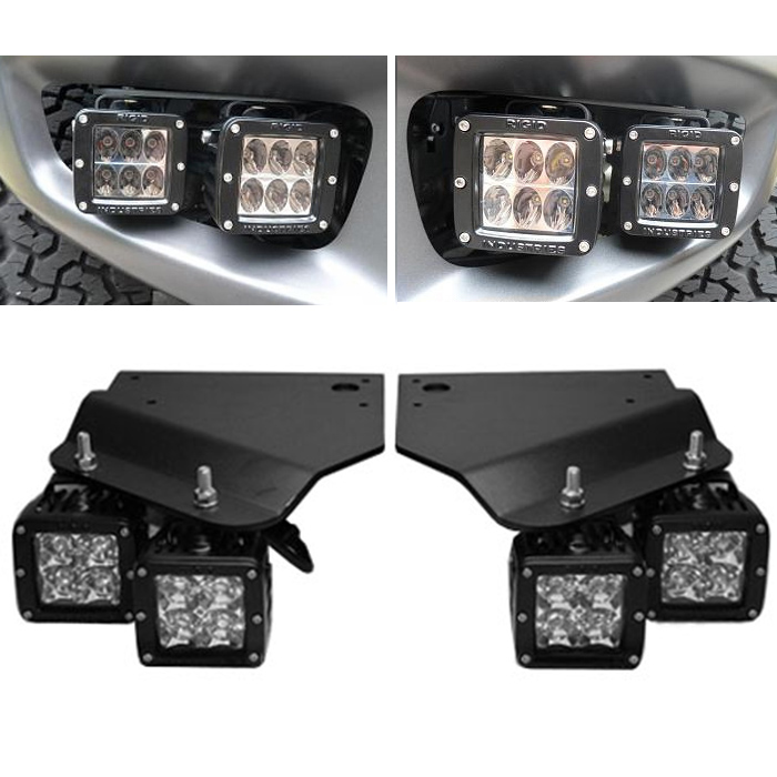 2010-2014 F150 Raptor Rigid LED Off-Road Fog Light Bracket Kit