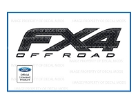 Officially Licensed 2012-2014 F150 FX4 Off-Road Carbon Fiber Decals (Pair)