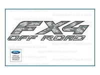 Officially Licensed 1997-2008 F150 FX4 Off-Road ACU Camo Decals (Pair)