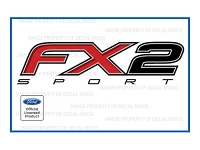 Officially Licensed 2012-2014 F150 FX2 Sport Bed Side Decals (Pair)