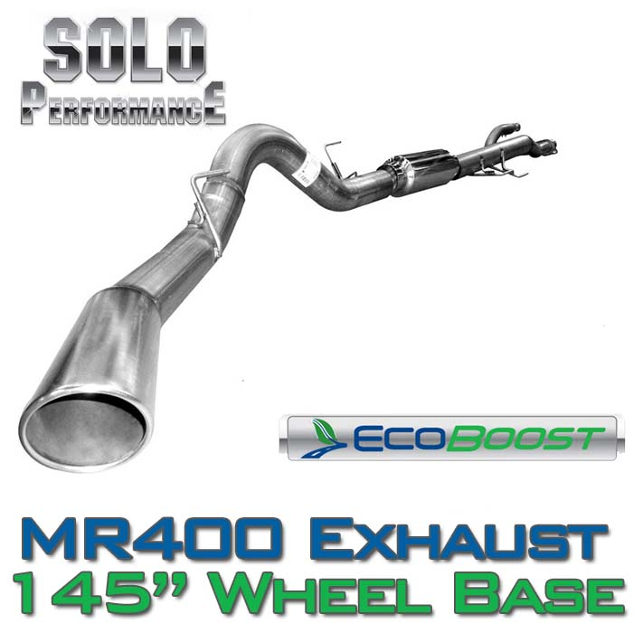 "2011-2014 F150 3.5L EcoBoost Solo Performance 4"" Single-Exit Exhaust Kit (145"" Wheelbase)"