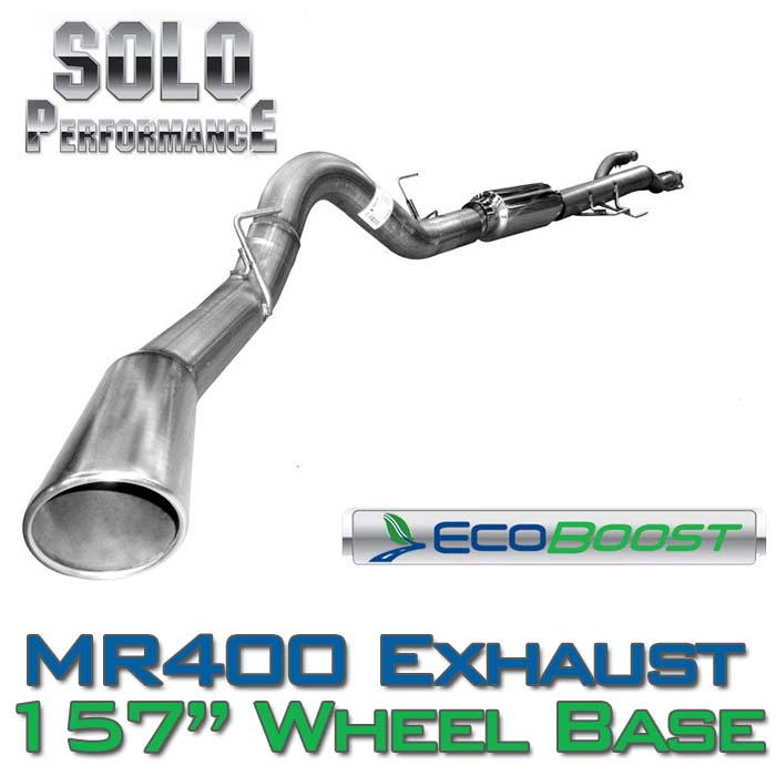 "2011-2014 F150 3.5L EcoBoost Solo Performance 4"" Single-Exit Exhaust Kit (157"" Wheelbase)"