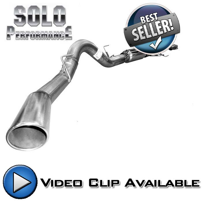 "2011-2014 F150 5.0L Solo Performance 4"" Single-Exit Exhaust System - 157"" Wheel Base"