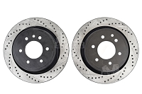 2012-2017 F150 StopTech Cross-Drilled & Slotted Rear Rotors
