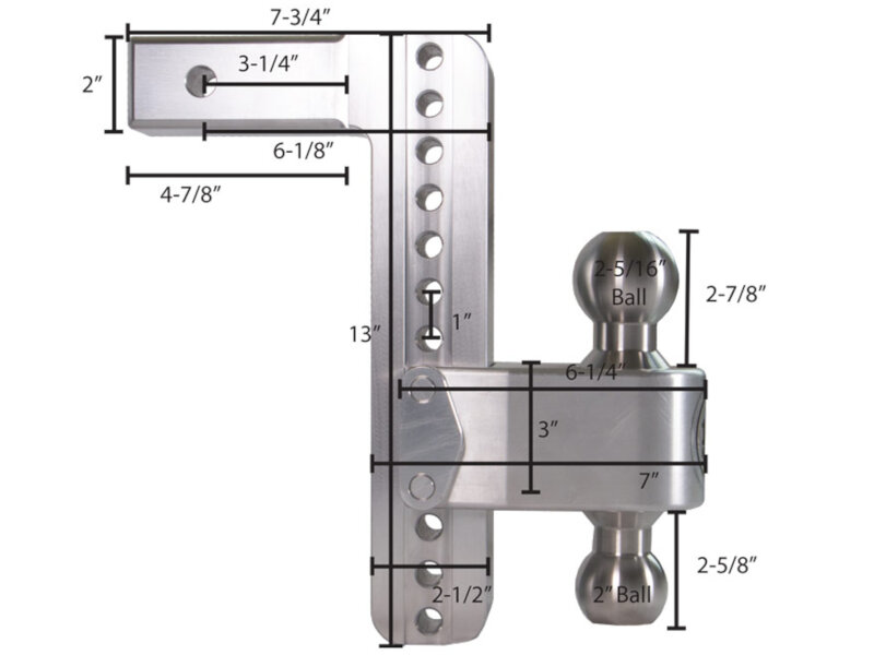 """Weigh Safe Hitch >> Weigh Safe 10-Inch Locking Turnover Ball 180 Hitch - 2"""" Shaft LTB10-2"""