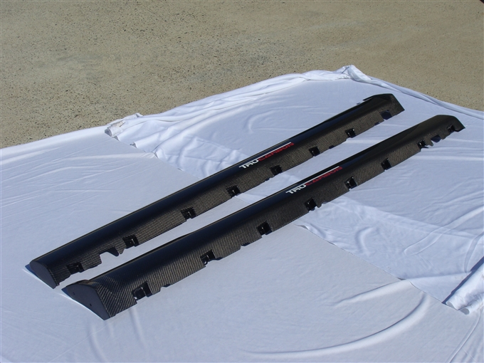 2010-2012 Mustang TruCarbon OEM Style Side Skirts