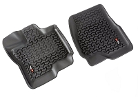 2015-2018 F150 SuperCrew Rugged Ridge Front Floor Liners 2-Piece (Black)