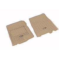 2001-2003 F150 Crew Cab Rugged Ridge 2-piece Front Floor Liners (Tan)