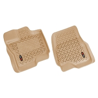 2015-2018 F150 SuperCrew Rugged Ridge Front Floor Liners 2-Piece (Tan)