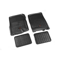 1997-2003 F150 Std/Ext Cab Rugged Ridge Front & Rear Floor Liners 4-Piece (Black)
