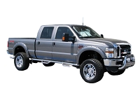 1999-2016 F250 & F350 SuperCrew N-FAB Stainless Steel Wheel-to-Wheel Nerf Step (Short Bed)