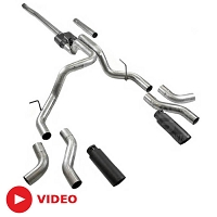 2004-2008 F150 V8 Flowmaster Outlaw Dual Cat-Back Exhaust Kit (Black Tips)