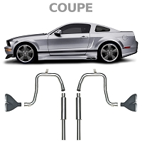 2005-2009 Mustang V6 Coupe Cervini's Side Exhaust Kit