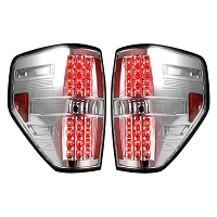 2009-2014 Ford Raptor & F150 Recon Clear LED Tail Lights