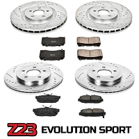 2015-2017 Mustang V6 & EcoBoost Power Stop Z23 Evolution Sport Front and Rear Brake Package