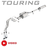 2010-2014 F150 SVT Raptor 6.2L V8 Borla Touring Cat-Back Exhaust System