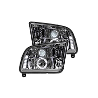 2005-2009 Mustang Recon Lighting LED Headlights (Clear)