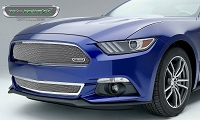 2015-2016 Mustang GT T-REX Upper Class Formed Mesh Grille (Polished Stainless Steel)