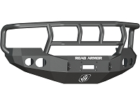 2005-2007 F250 & F350 Road Armor Stealth Titan II Series Winch-Ready Front Bumper w/ Round Light Ports