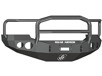 2005-2007 F250 & F350 Road Armor Stealth Lonestar Series Winch-Ready Front Bumper w/ Round Light Ports