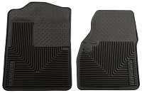 1999-2007 F250 & F350 Crew Cab Husky Liners WeatherBeater Front Floor Liners (Black)