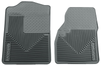 1999-2007 F250 & F350 Crew Cab Husky Liners WeatherBeater Front Floor Liners (Gray)
