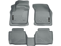 2013-2017 Fusion Husky Liners WeatherBeater Front & Rear Floor Liners (Gray)