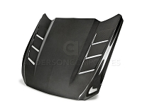 2015-2017 Mustang Anderson Composites Double Sided Carbon Fiber Heat Extractor Hood