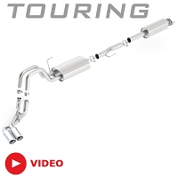 2011-2014 F150 5.0L V8 Borla Touring Cat-Back Exhaust System