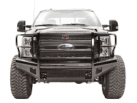 2017 F250 & F350 Fab Fours Black Steel Series Front Bumper with Full Grille Guard