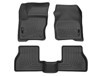 2013-2016 Focus ST Husky Liners WeatherBeater Front & Rear Floor Liners (Black)