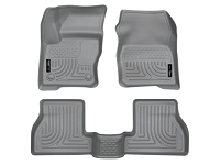 2013-2016 Focus ST Husky Liners WeatherBeater Front & Rear Floor Liners (Grey)