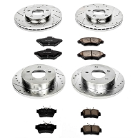 1994-1998 Mustang GT / V6 Power Stop Front & Rear Rotor & Z23 Pad Brake Kit