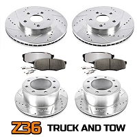 2009-2011 F-250 Super Duty 4WD Power Stop Z36 Truck & Tow Complete Brake Kit