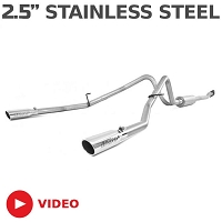 2011-2014 Ford F150 MBRP EcoBoost 3.5L V6 Dual Rear Cat-Back Exhaust (Stainless)
