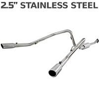 2011-2014 Ford F150 MBRP EcoBoost 3.5L V6 Dual Rear Side Exit Cat-Back Exhaust (Stainless)