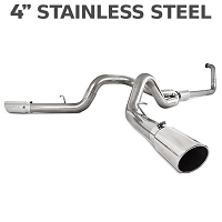 2003-2007 6.0L F250 & F350 MBRP 4 Inch Turbo Back Cool Duals Exhaust System - XP Series (Stainless)